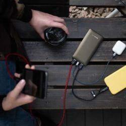 Kraftverk powerbank lader 3 telefoner samtidig