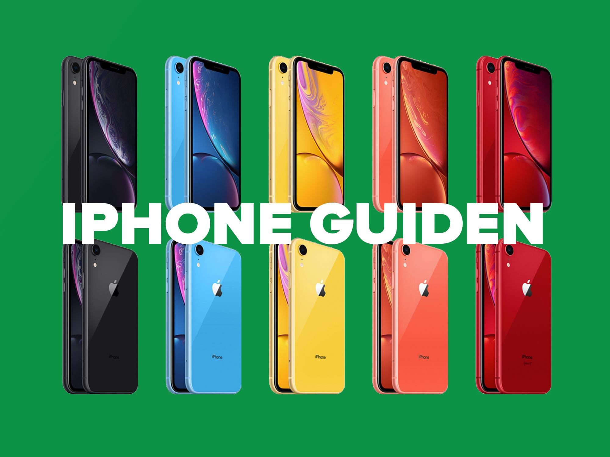 Guide til å velge riktig iPhone 2019