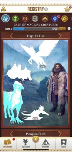 Bilde av Harry Potter Wizards Unite spillet, registreringsbilde ny spiller