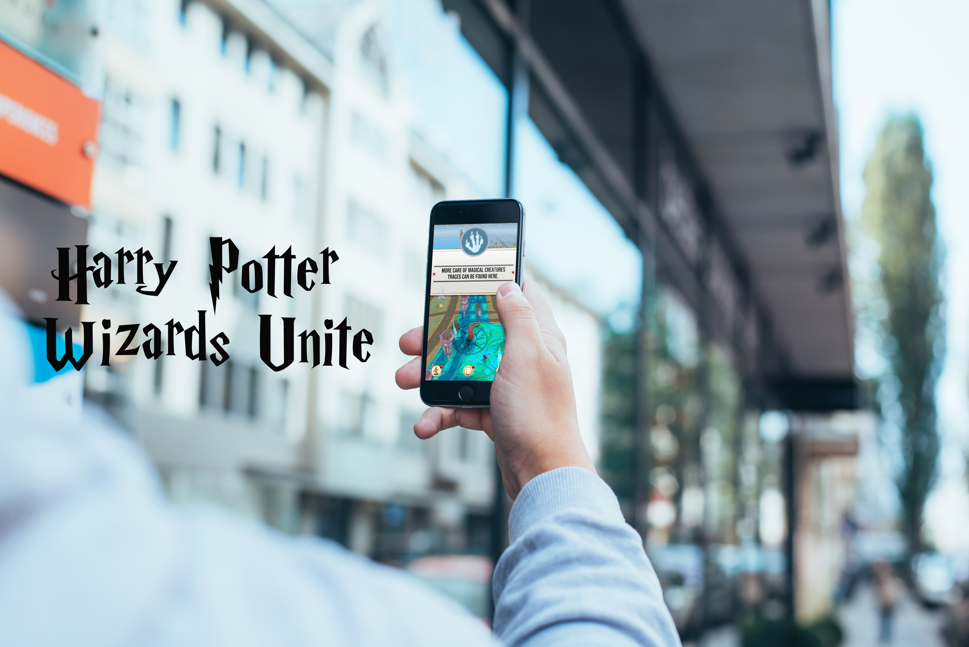 Bilde av Wizards unite spillet på iPhone og android